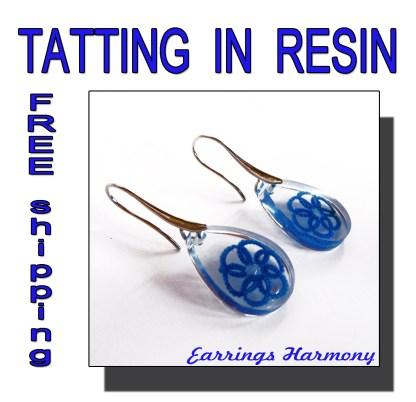 Pale blue earrings Harmony
