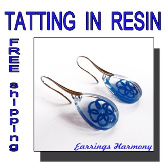 Pale blue earrings Harmony