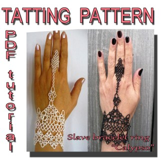 Weddings gloves Calypso tatting pattern