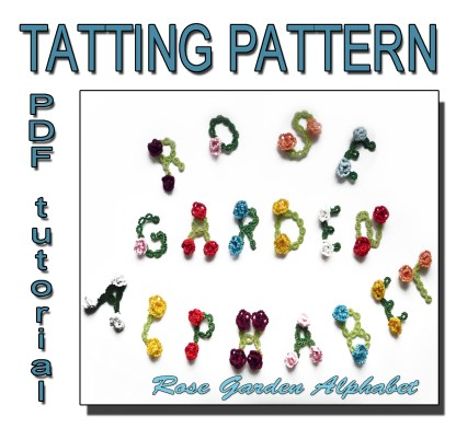 Rose garden alphabet tatting pattern