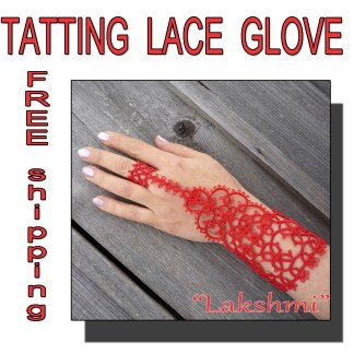 Lace red glove Lakshmi