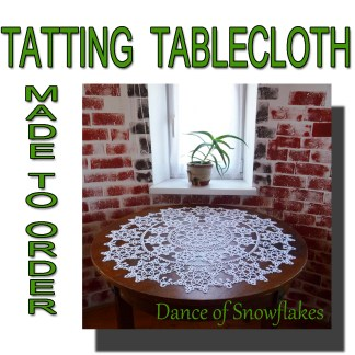 Lace tablecloth Dance of snowflakes