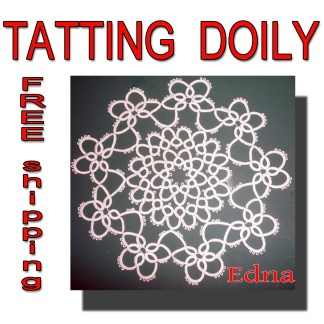 Tatting doily Edna