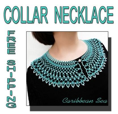 Caribbean Sea collar necklace