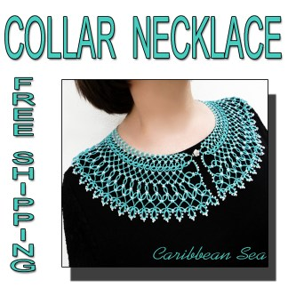 Caribbean Sea collar necklace