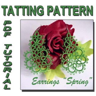 Earrings Spring tatting pattern