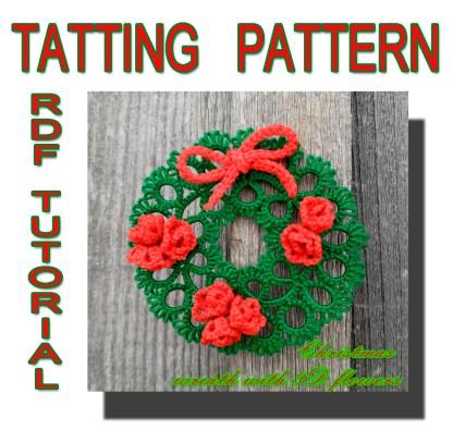 Christmas wreath pattern