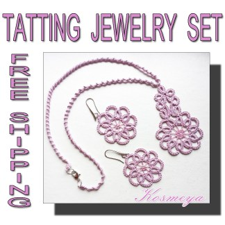 Tatting jewelry set Kosmeya