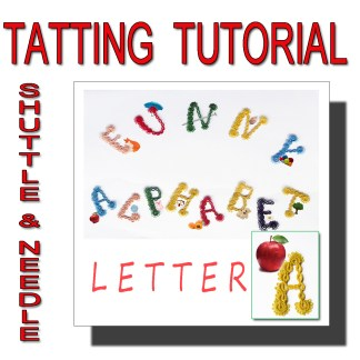 Letter A tatting pattern