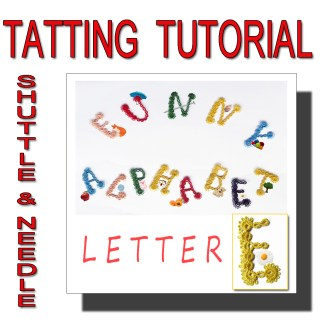 Letter E tatting pattern