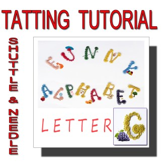 Letter G tatting pattern