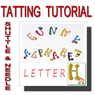 Letter H tatting pattern