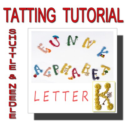 Letter K tatting pattern