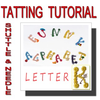 Letter K tatting pattern