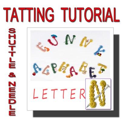 Letter N tatting pattern