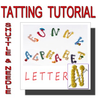 Letter N tatting pattern