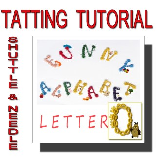 Letter O tatting pattern