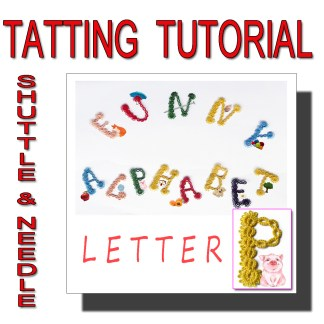 Letter P tatting pattern