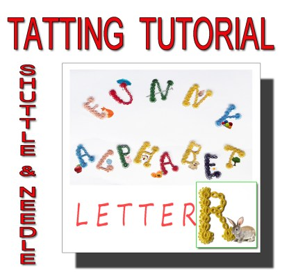 Letter R tatting pattern