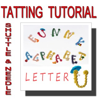 Letter U tatting pattern