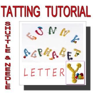 Letter Y tatting pattern