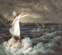 A Fairy Waving Her Magic Wand Across A Stormy Sea - Amelia Jane Murray
