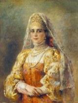 Portrait of Princess Zinaida Yusupova in Old Russian Dress