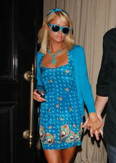#3132140 Paris Hilton enjoyed an evening out June 8, 2009 with boyfriend Doug Reinhardt at Cinescape restaurant and lounge in Los Angeles, California before walking over to Beso. Paris sported an all blue outfit but her mood was far from blue as she strolled from place to place with a smile. Fame Pictures, Inc - Santa Monica, CA, USA - +1 (310) 395-0500