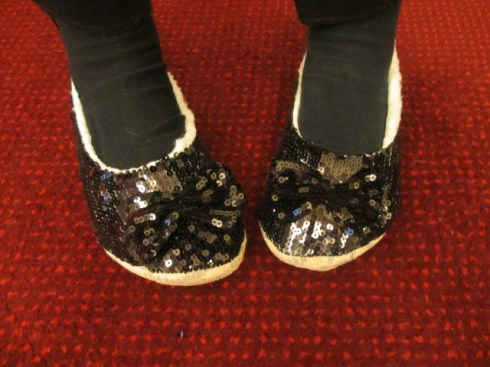 Louisa's sparkly shoes
