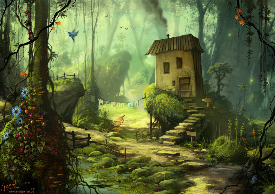 Fall Woodland Creatures Wallpaper Artist Spotlight Jeremiah Morelli A Place For Fantasy