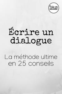 écrire un dialogue