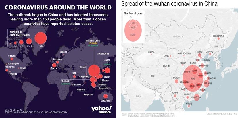 Corona Virus Infected China Map