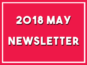 Click here to read my newsletter for May 2018