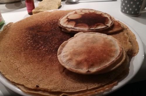 crêpes pancake, sans repos, sans oeufs