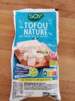 Tofu BIo pour faire un curry Thaï