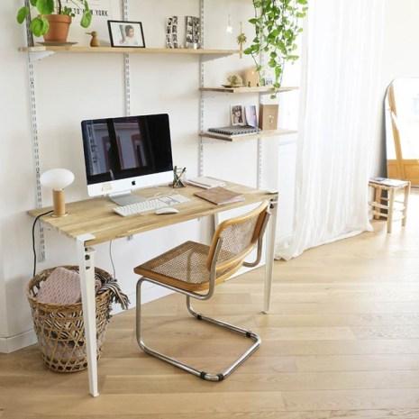 Optimiser l'espace bureau de bois crémaillère