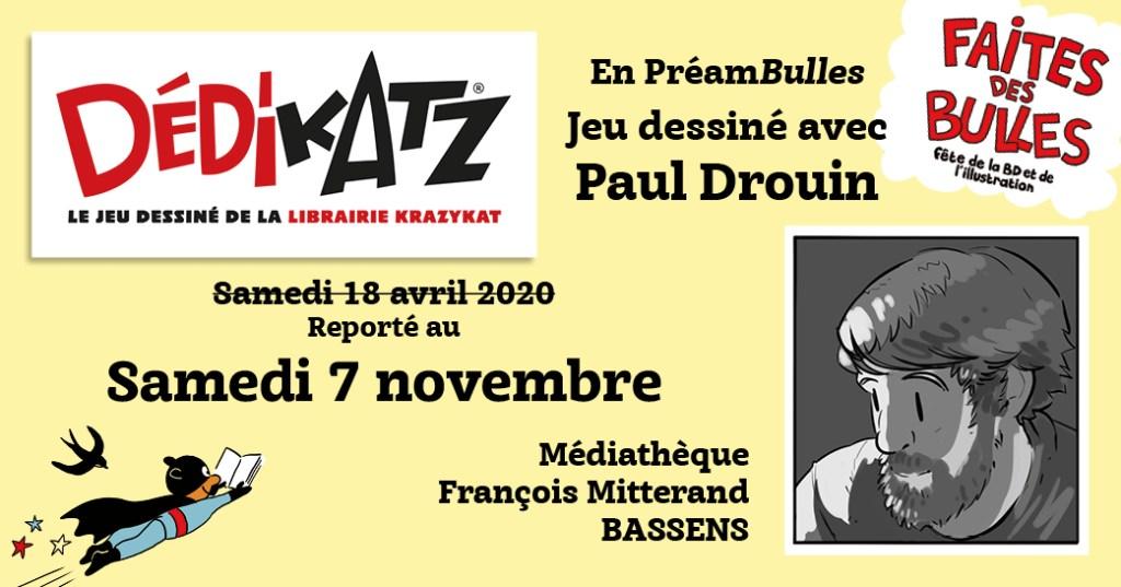 Dédikatz - Paul Drouin - Médiathèque de Bassens