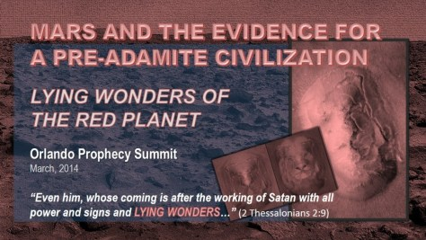 MARS AND THE EVIDENCE FOR A PRE-ADAMITE CIVILIZATION