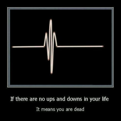 UPs and Downs mean you are still alive!