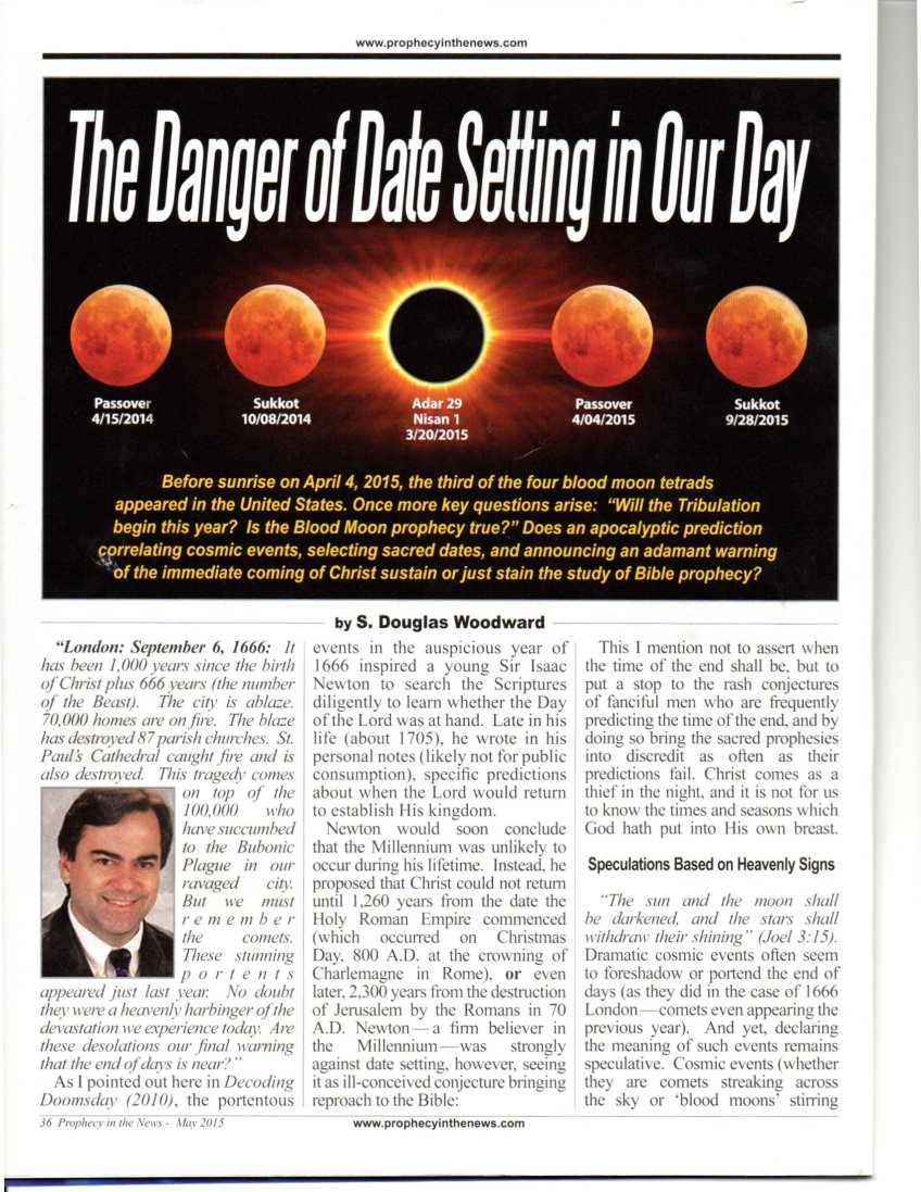 PROPHECY IN THE NEWS ARTICLE MAY 2015 PG.1