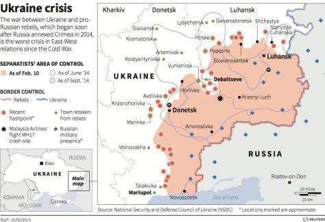 Map of the Ukraine Crisis 2014