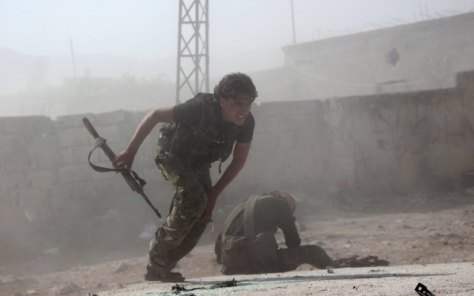 Russian Attacks Syrian Rebels in HOM Province