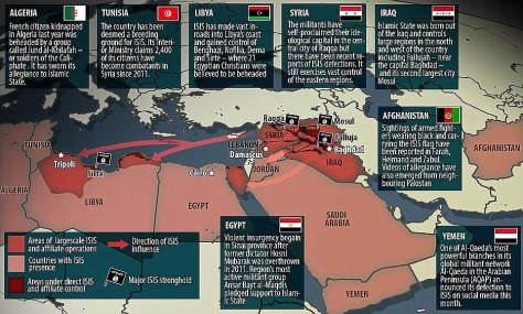 ISIS impact in Africa and the Middle East