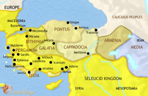 Anatolia in time of the Greek Empire