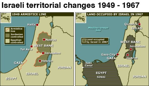 ISRAELI TERRITORY FROM 1949 TO 1967