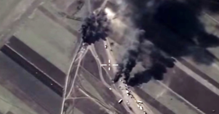 Russia Bombing ISIS Oil Tankers