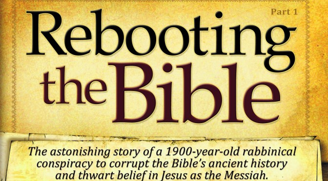 GREAT REVIEWS FOR REBOOTING THE BIBLE, ON SALE NOW