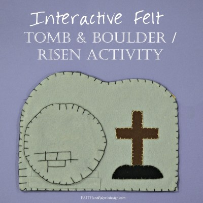 """ACTIVITY: Tomb and Boulder """"Stained Glass"""" for Good Friday thru Easter"""