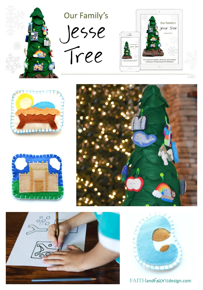 Faith and Fabric - Jesse Tree Ornaments with Devotions