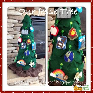 Jesse Tree Ornaments: The Tree Base